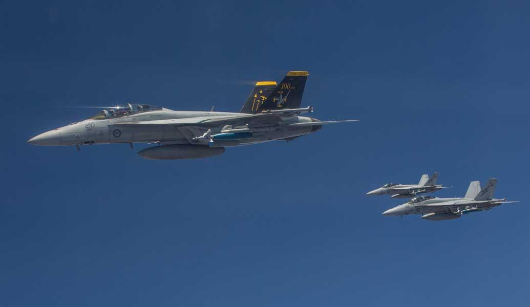 オーストラリア空軍のF/A-18F(画像:オーストラリア国防省)