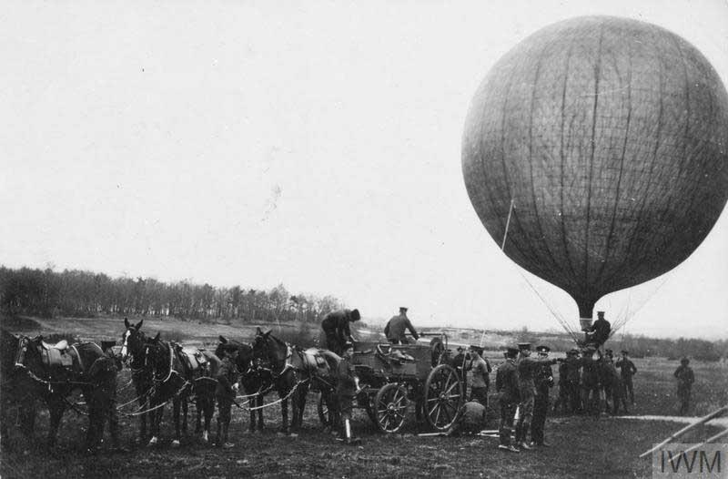 1903年に撮影されたイギリス軍の観測気球(画像:Crown Copyright IWM)