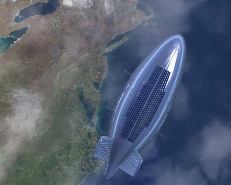 高高度滞留型無人飛行船の飛行イメージ(画像:Lockheed Martin)
