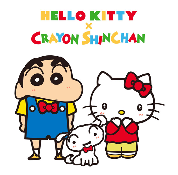 オラがキティちゃんをお祝いしちゃうゾ!「ハローキティ」誕生45周年で「クレヨンしんちゃん」とコラボ!