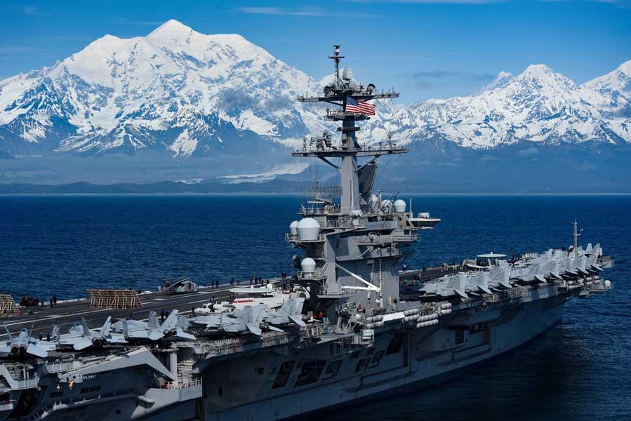 10年ぶりに空母も参加!アラスカでのアメリカ軍統合演習「ノーザン・エッジ2019」終了