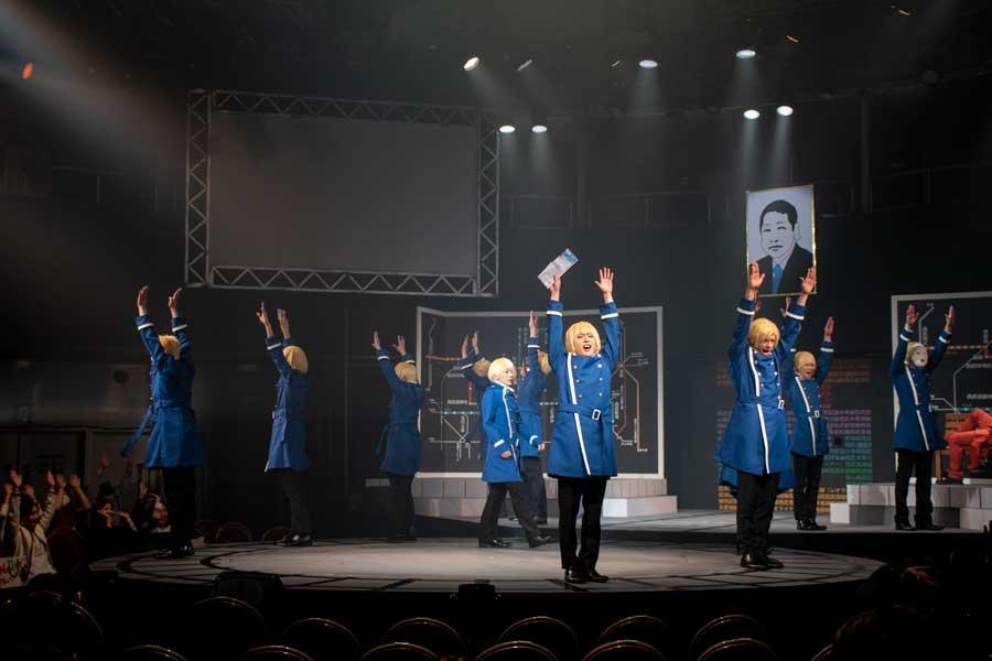 さぁみんなで「会長、バンザイ!」 ミュージカル「青春鉄道」公開ゲネプロ