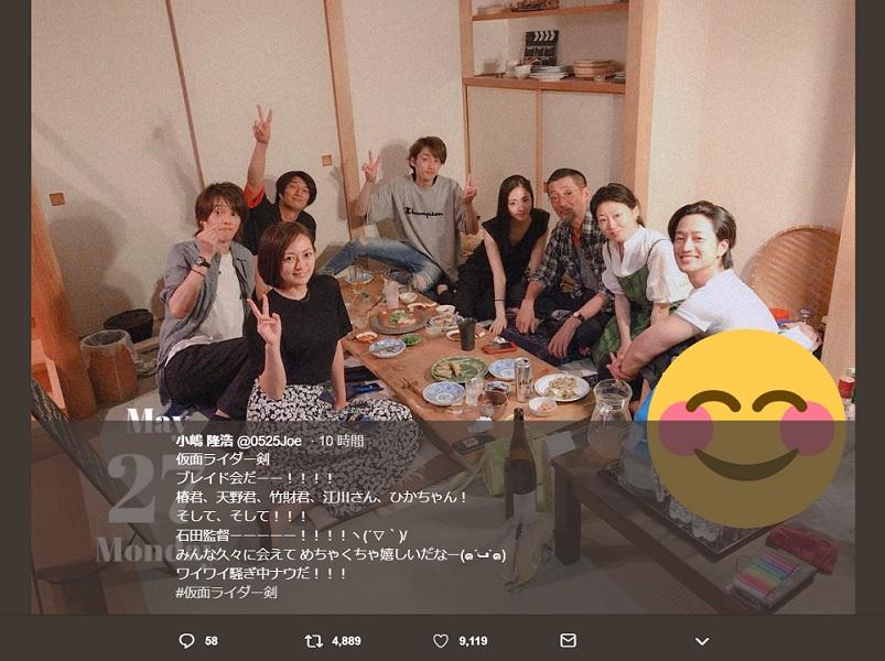 「仮面ライダー剣」の出演者が集結 「ブレイド会」にファン歓喜