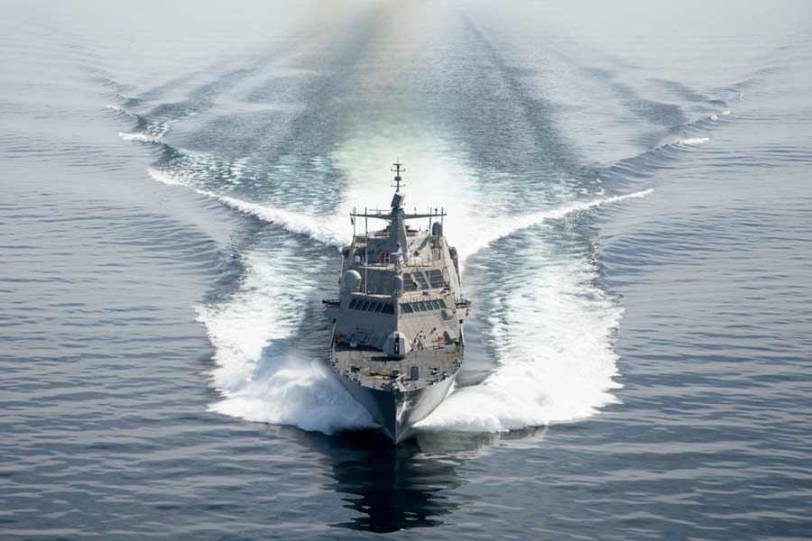 アメリカ海軍の新鋭沿海域戦闘艦 湖での受領試験終了