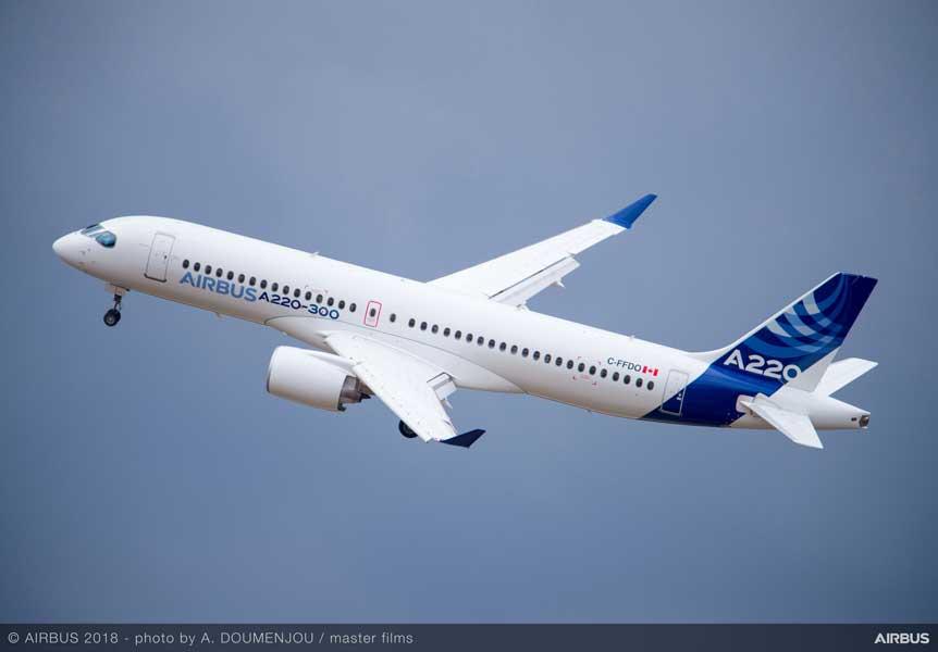 エアバスA220アジア6か国デモツアー開始 最後は名古屋に飛来