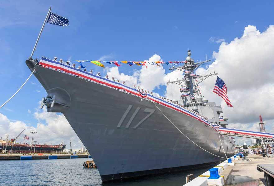 アメリカ新鋭駆逐艦ポール・イグナティウス就役