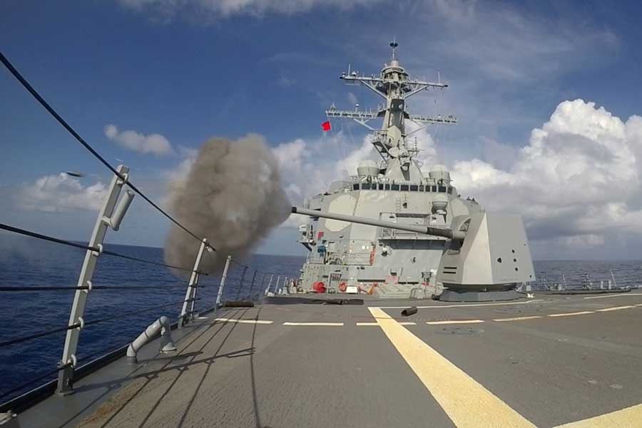 BAEシステムズ 米海軍5インチ砲Mk45のMod4改修分を出荷