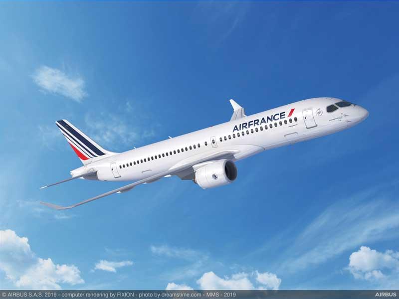 エールフランスがエアバスA220を60機大量発注 A380は2022年退役