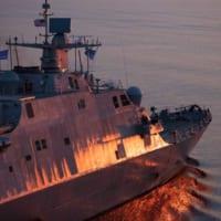アメリカの沿海域戦闘艦インディアナポリス 新型のTRS-4…