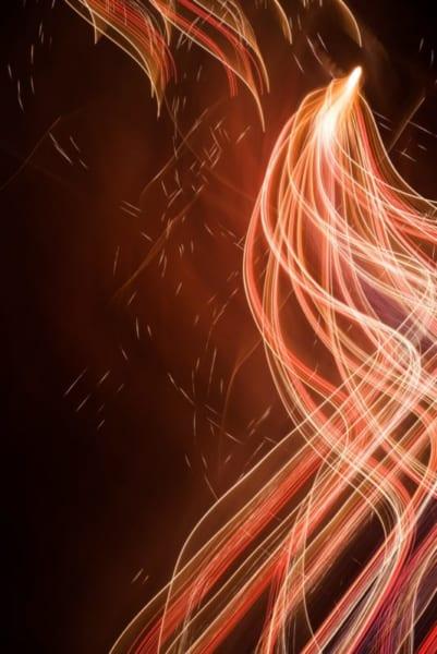 夜空に描かれる光の軌跡 花火を「火の鳥」にしてしまう撮影が息を飲む美しさ