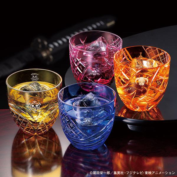 ONE PIECEの江戸切子グラスが登場