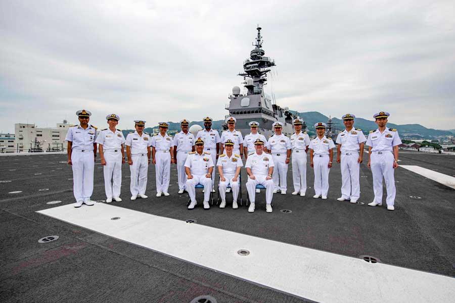 海上自衛隊が初めて主導する米印海軍との共同訓練「マラバール2019」佐世保で開幕