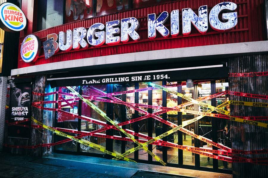 バーガーキング渋谷センター街店が「ゾンビ向け店舗」に 限定商品も提供