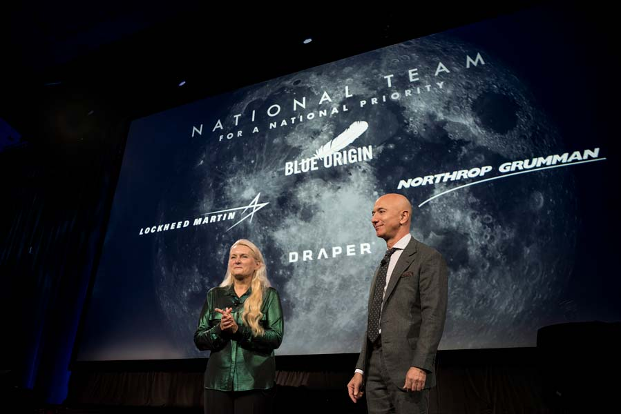アマゾン創業者の宇宙企業がNASA有人月探査計画に参加 着陸船エンジンなどを担当
