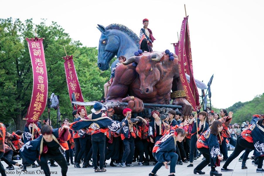 藝祭で話題の牛頭馬頭神輿 静岡県伊東市「まぼろし博覧会」で公開決定