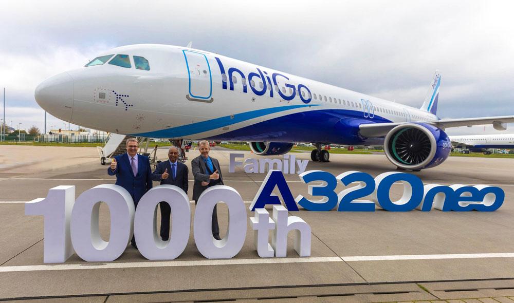 エアバス A320neoファミリー1000機目の機体をインドのLCCに引き渡し