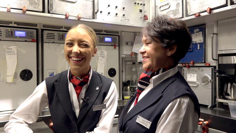 ブリティッシュ・エアウェイズ 母娘客室乗務員だけのフライトを実施