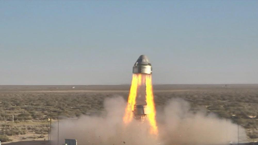 ボーイングの有人宇宙船「スターライナー」緊急脱出装置の試験成功