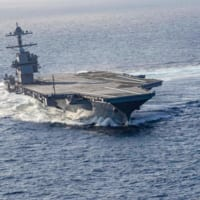 大迫力!アメリカ最新空母ジェラルド・R・フォード高速旋回試…