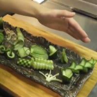 繊細なきゅうりの飾り切り 日本料理の「粋」を感じる美しさに…