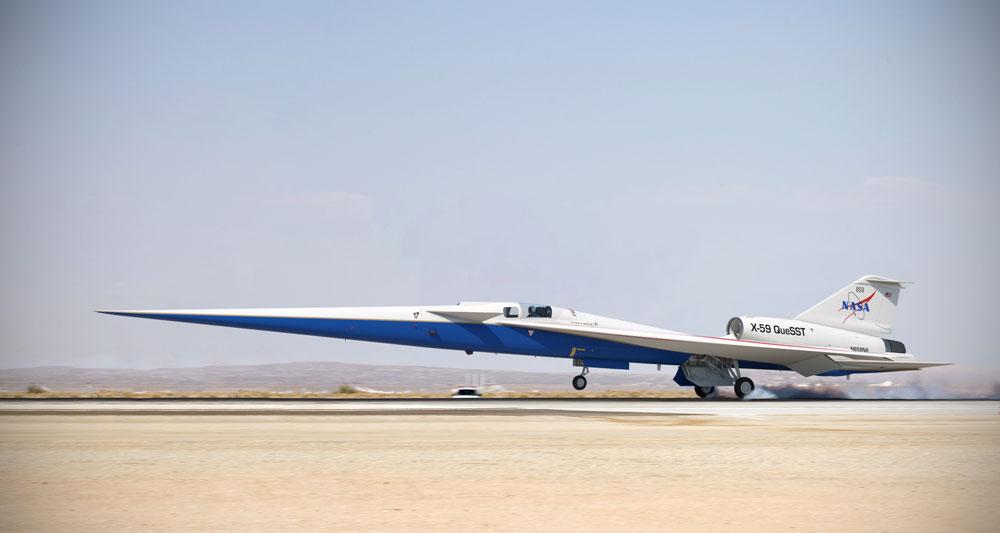 NASAの低ソニックブーム実験機X-59 最終組み立てにゴーサイン