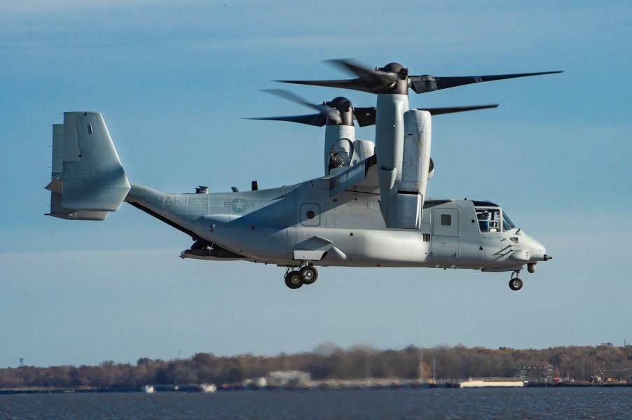 改良型MV-22Bオスプレイ アメリカ海兵隊に初納入
