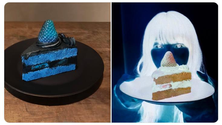 写真映えする?「色が反転したケーキ」が話題 でも食べるのに勇気がいるよね……