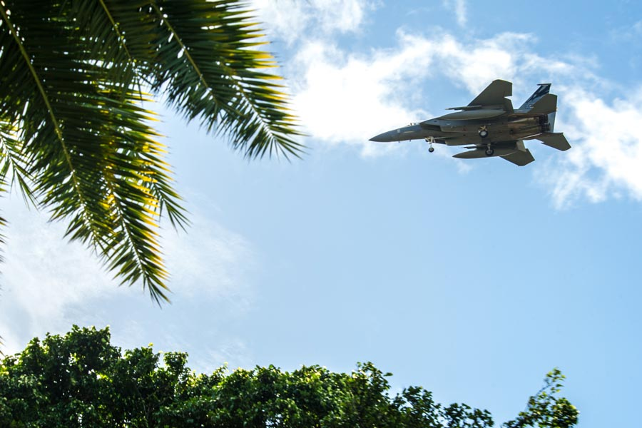ハワイでのアメリカ空軍2020年初の演習「セントリー・アロハ」実施