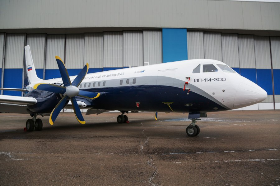 ロシアのイリューシン 最新ターボプロップ旅客機Il-114-300試作機を公開