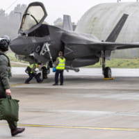 イギリス空軍F-35 アメリカでのレッドフラッグ演習に出発