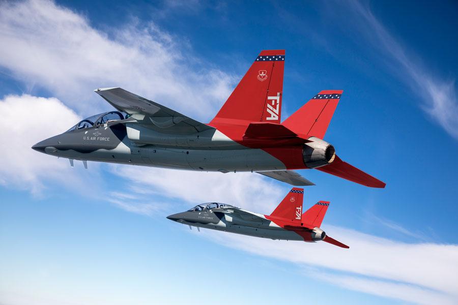 アメリカ空軍の新型ジェット練習機T-7Aレッドホーク製造開始