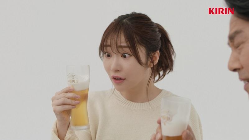 指原莉乃がビール系広告に初登場 キリン「一番搾り」新CM