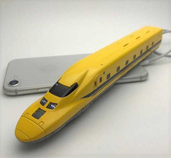 ドクターイエロー型モバイルバッテリー「もちてつ」がリニューアル