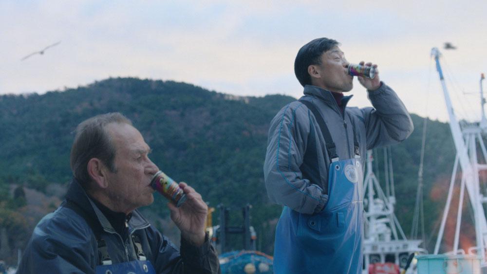 サントリーBOSS新CM 漁師役で光石研&ゆきぽよが共演