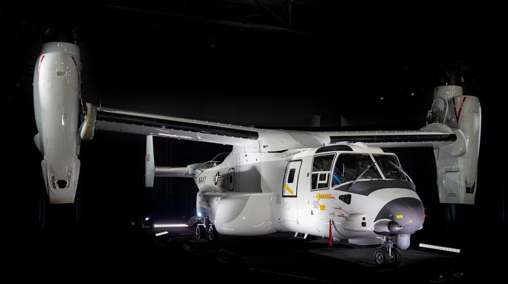 アメリカ海軍 CMV-22Bオスプレイ1号機を受領