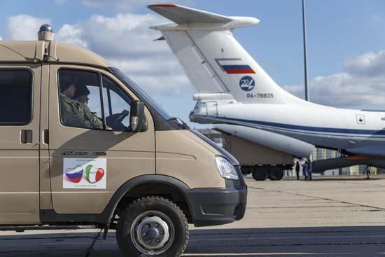 イタリアを救え!ロシア軍が新型コロナウイルス対策部隊と物資を空輸