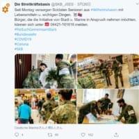 ドイツの新型コロナウイルス対策 軍が高齢者の買い物を代行