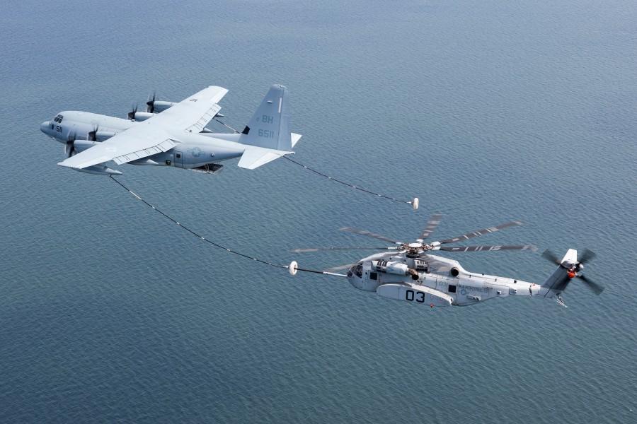 アメリカ海兵隊CH-53K 空中給油試験を終了