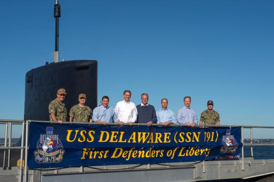 アメリカ海軍の潜水艦デラウェア 先代の戦艦と同じ日に就役
