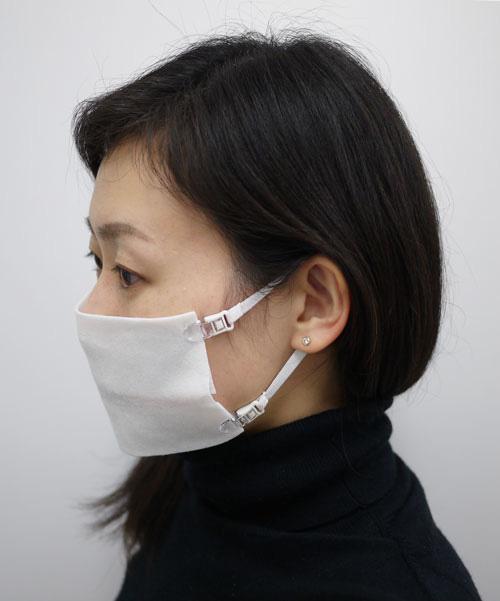 布をパチっと留めるだけ マスク用ストラップ「なんでもマスク」登場