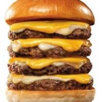 ロッテリアが4月の「肉の日」実施 4段絶品チーズバーガーなど…