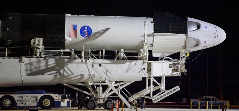 スペースXの有人宇宙船クルードラゴン 27日の打ち上げに向け準備完了