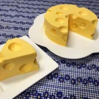 アニメのチーズみたいなチーズケーキ 家族大喜びのびっくりケ…