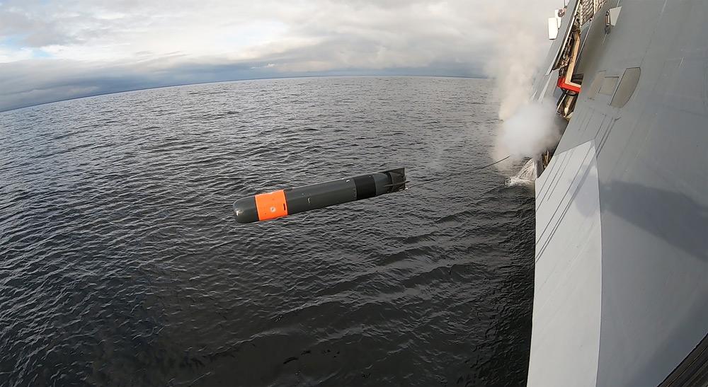 スウェーデン海軍 新型短魚雷の発射試験に成功