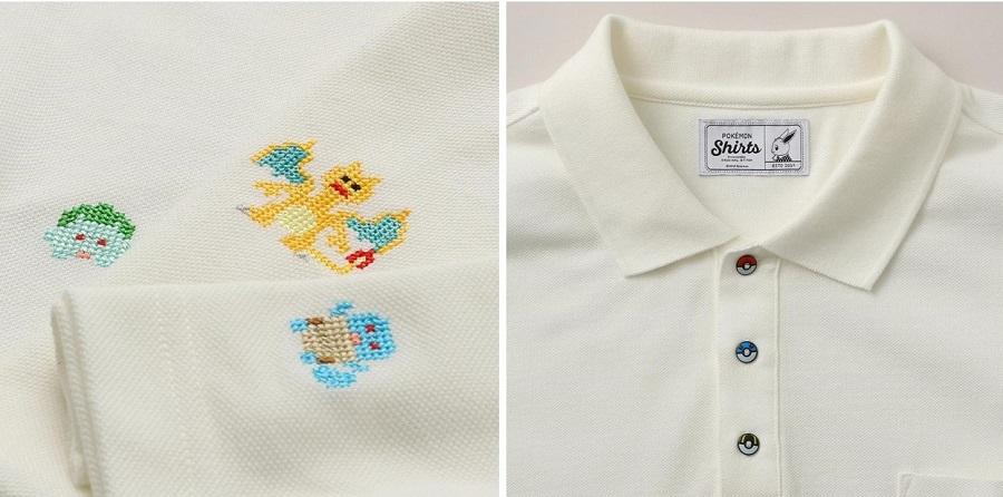 自分の好きなポケモンがオーダーで刺繍可能!「ポケモンシャツ」にポロシャツ