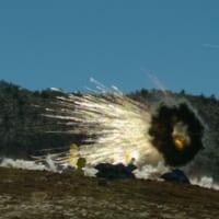 アメリカ陸軍30mm機関砲の新型りゅう弾をノースロップ・グラ…