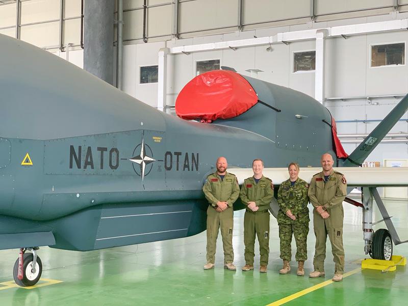NATO無人偵察機RQ-4D 初の飛行任務を完了
