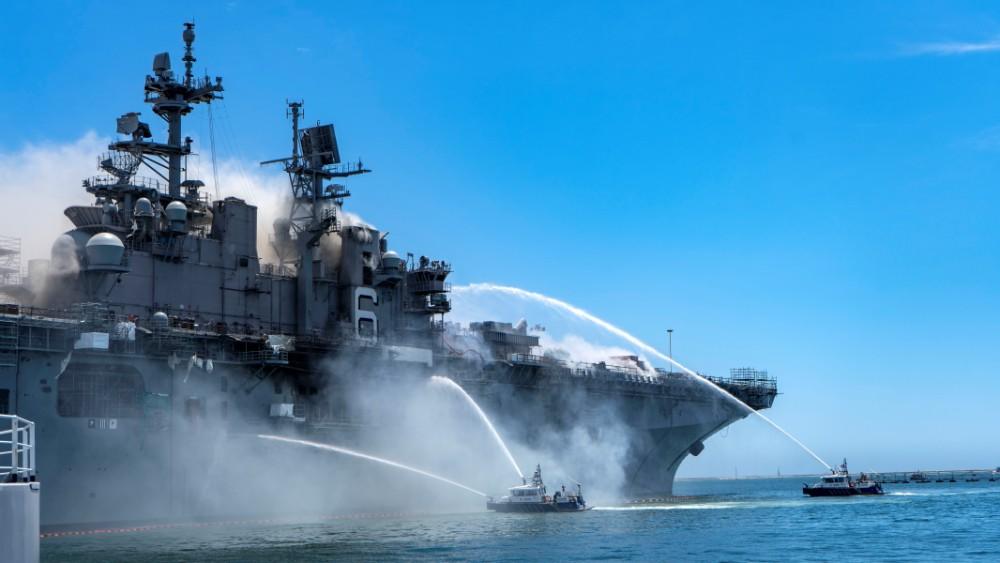 アメリカ強襲揚陸艦ボノム・リシャールで火災 2018年から定期整備中