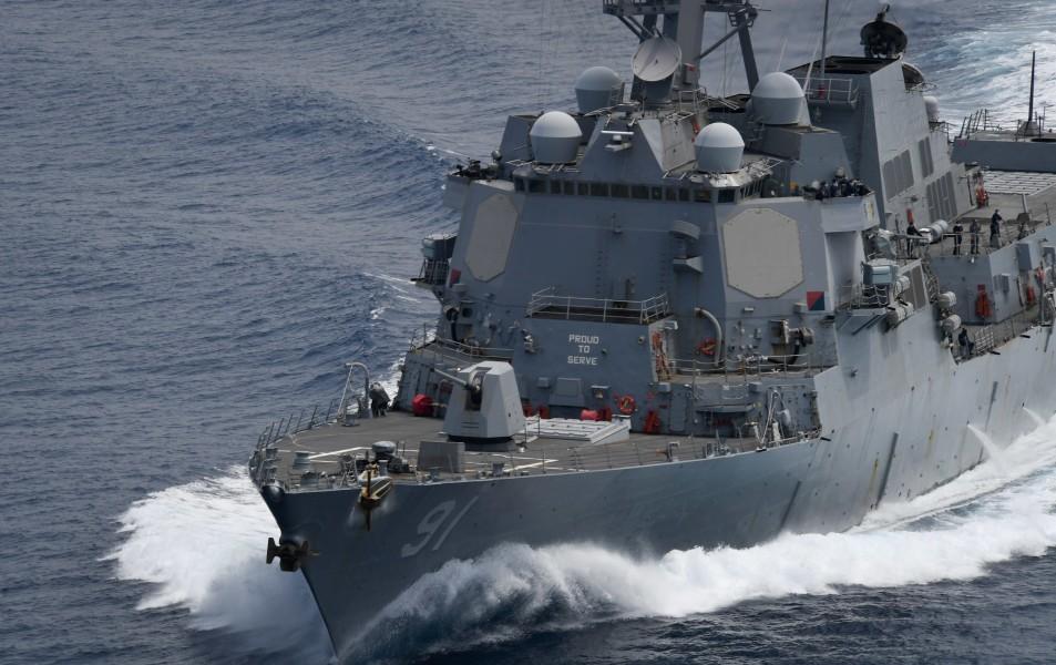 アメリカ駆逐艦ピンクニー ベネズエラ沖で「航行の自由作戦」実施