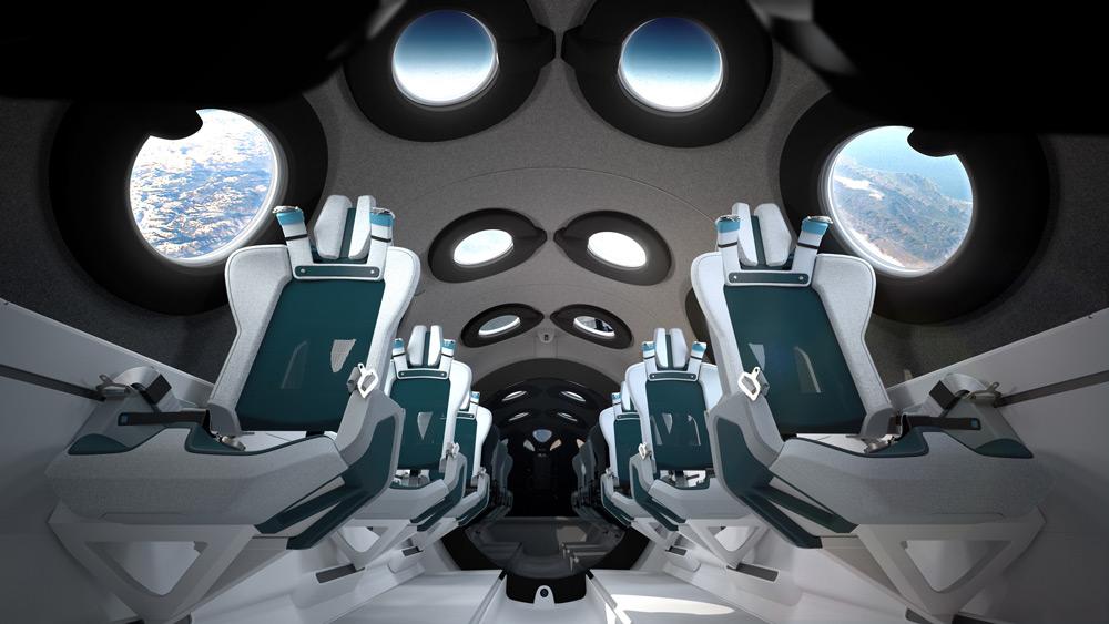 宇宙旅行会社ヴァージン・ギャラクティック 宇宙船の内装公開